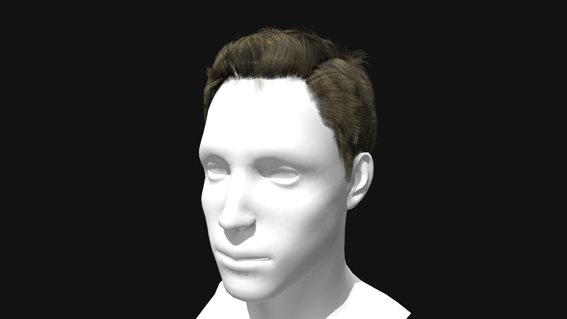 3D Hair Male Pompadour Hairstyle