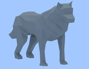 3D asset Animated Lowpoly Wolf