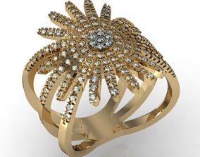 3D printable model gold star ring