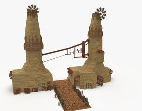 3D model Medieval Windmill Environment