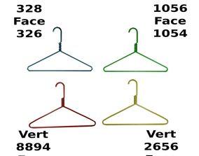 Metal Cloth Hanger 3D Asset