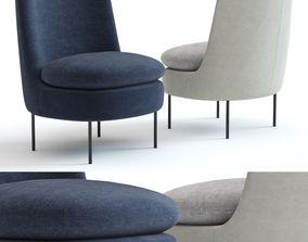 West Elm Modern Curved Chair 3D model