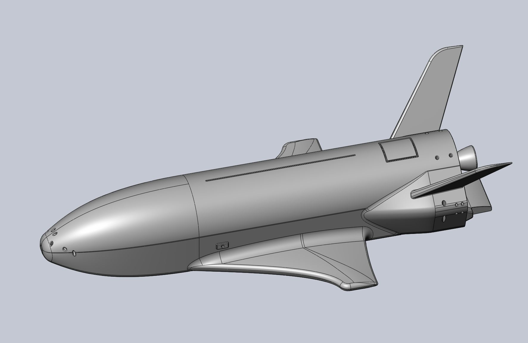 Boeing X-37B OTV Experimental Spaceplane Miniature