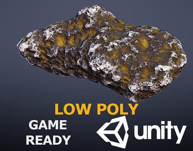 asteroid 3d model low-poly obj mtl fbx stl blend dae ply 1