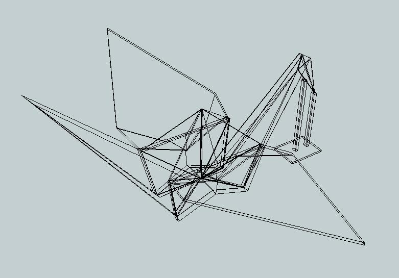 origami crane free 3d model 3d printable  stl