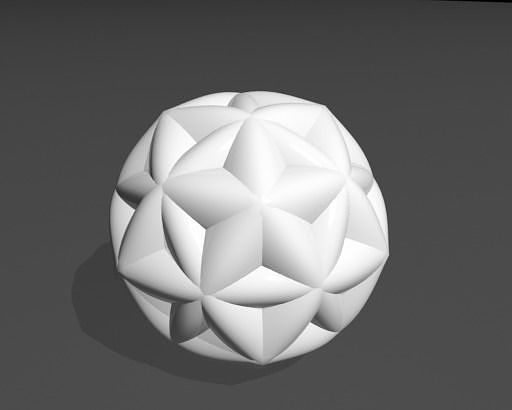 mathematical art 3d model obj mtl fbx stl 1