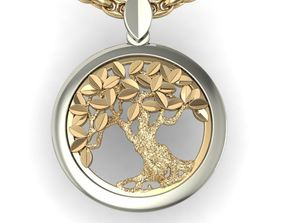 pendants beautyful pendant tree of life 3D print model