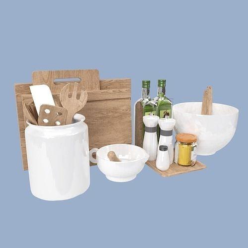 kitchen equipment 3d model max obj mtl 3ds fbx dxf stl 1