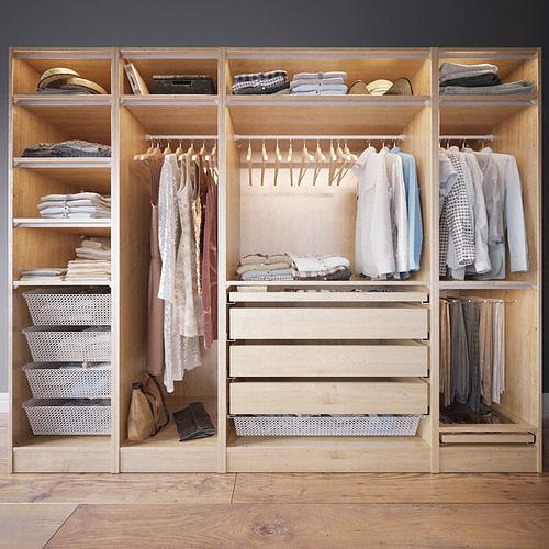 wardrobe with clothes  3d model max obj mtl fbx 1