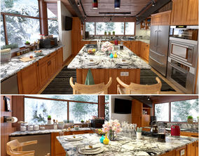 American Kitchen Concept With Craftsman Style 3D model