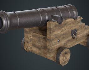 3D asset Vessel Cannon 1A
