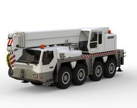 Truck crane 3D asset