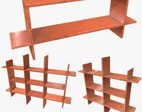 Shelf Collection Low Poly 3D model