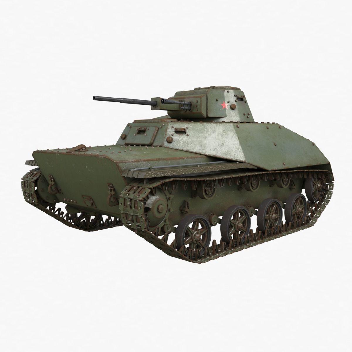 Tank T 40 Soviet Vray