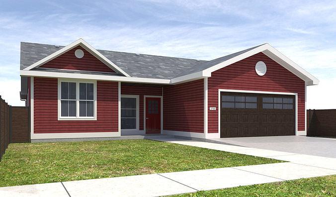 house-089 3d model max obj mtl 3ds fbx dwg 1