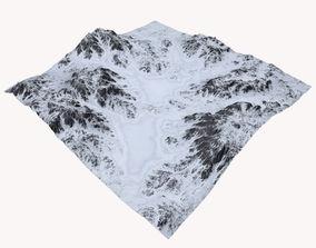 3D Snowy Terrain MTH086