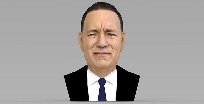 Tom Hanks bust ready for full color 3D printing