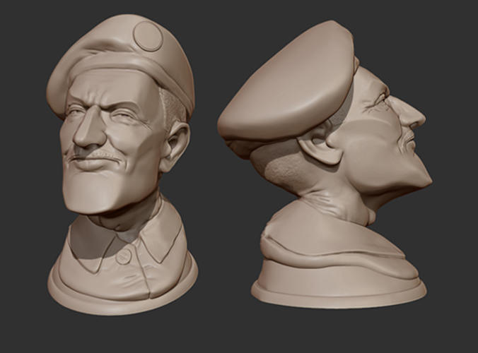 The colonel 3d print ready head free 3d model 3d 3d printer models free