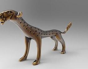 African cat statuette 3D print model