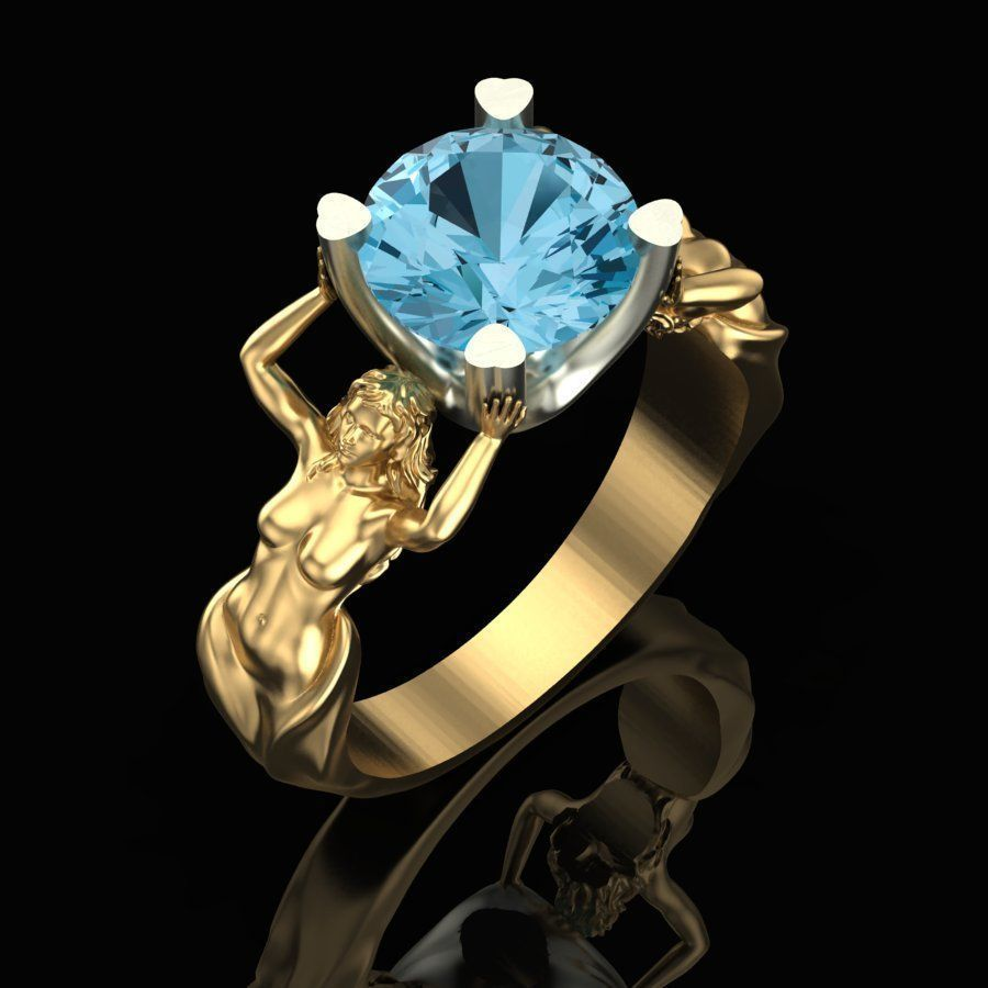 Womens ring with topaz