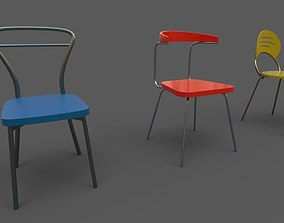 Color chair 3D model