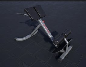 Hyperextension Bench 3D asset