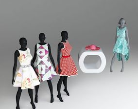 women fashion 3d models