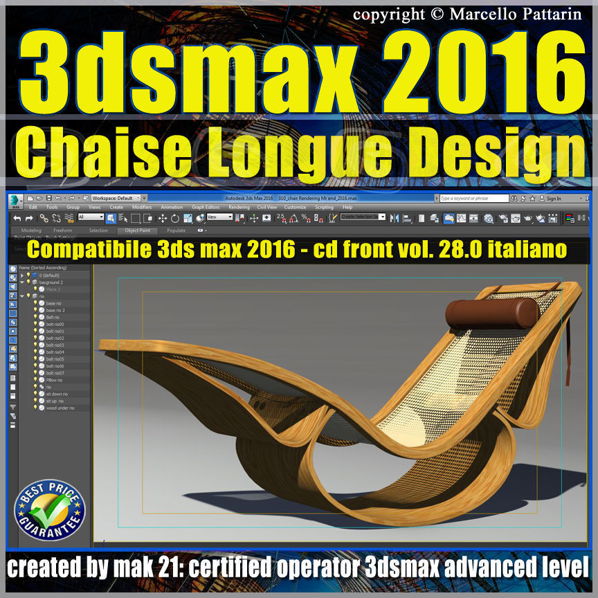028 3ds max 2016 Chaise Longue v 28 Cd Front