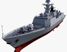 3D Chinese Navy Type 054A Frigate