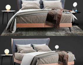 Poltrona Frau Mamy Blue Bed - Leather Frau 3d model