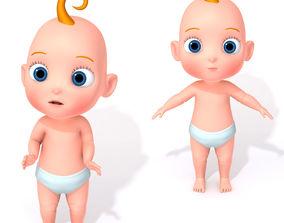 3D Cartoon Baby Rigged