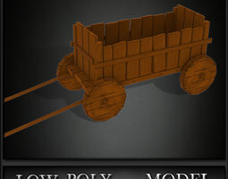Trolley Low Poly 3D Model