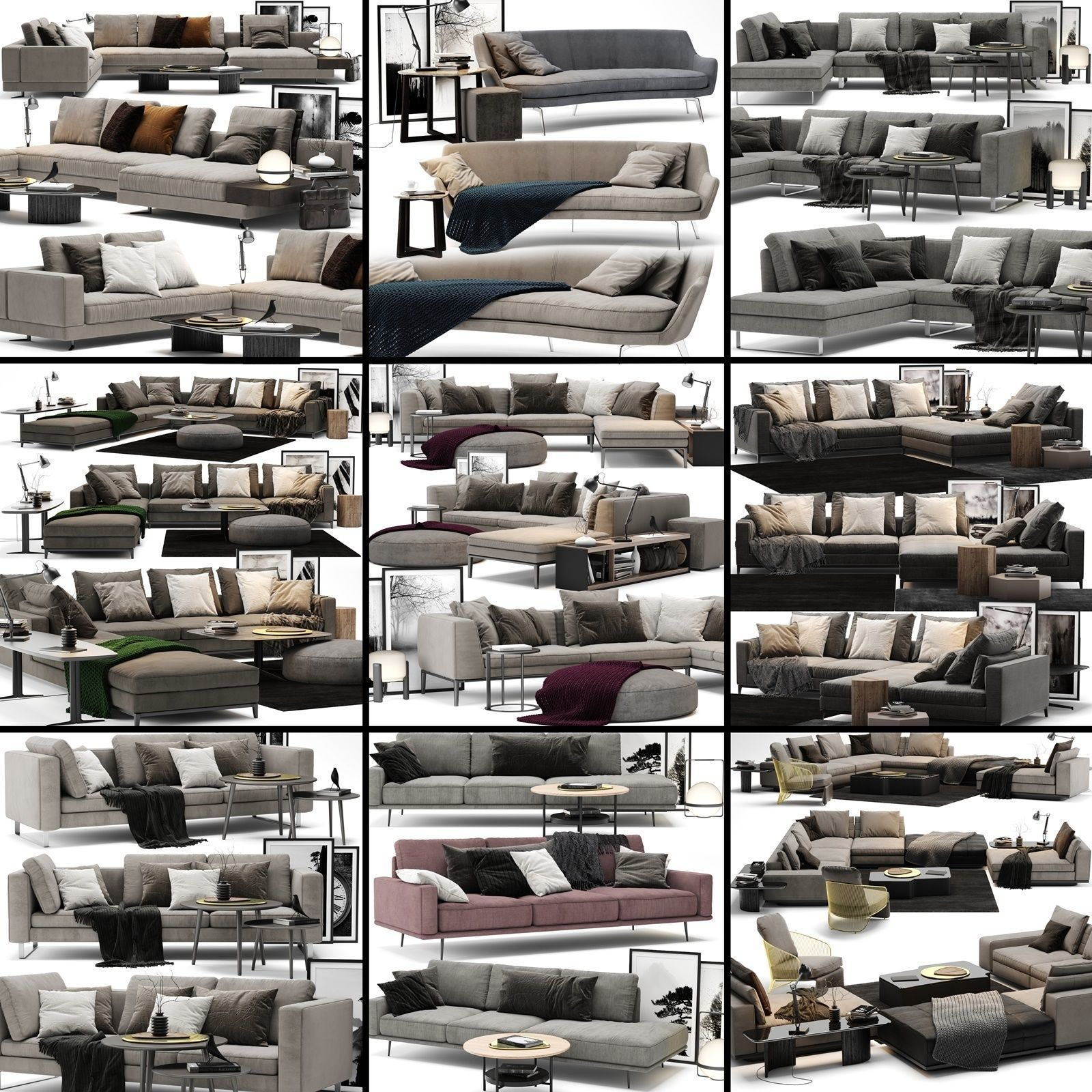 Sofa Colection 01 - 10 Items