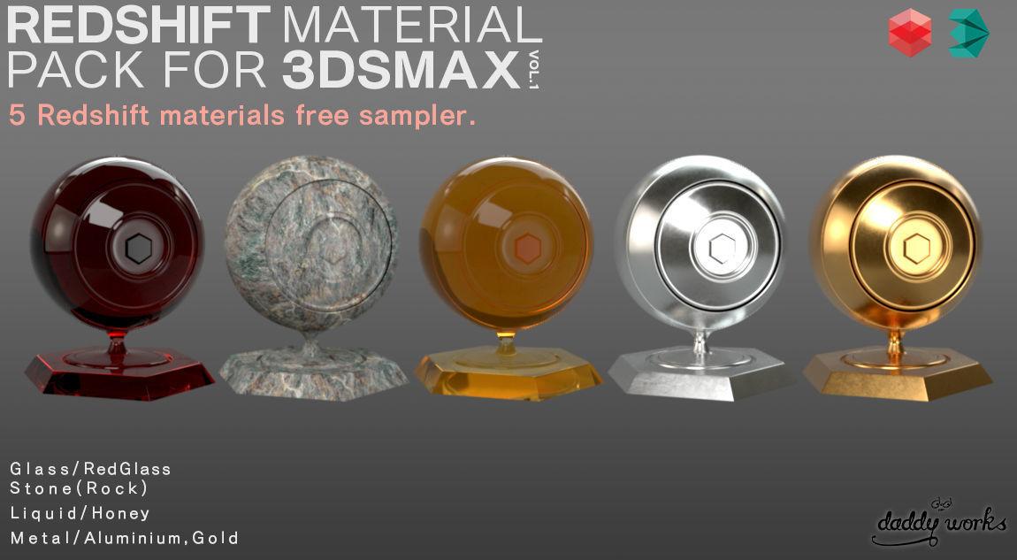 REDSHIFT MATERIAL PACK FOR 3DSMAX SAMPLER | CGTrader