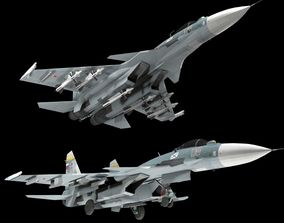 Su-33 Flanker D Lowpoly 3D asset