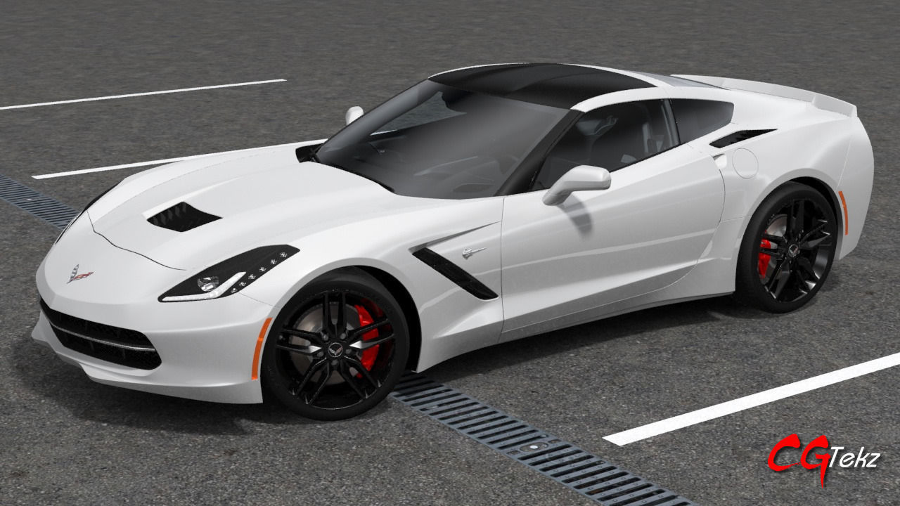 chevrolet corvette c7 stingray 2015 3d model max obj. Black Bedroom Furniture Sets. Home Design Ideas