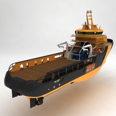 anchor handling tug supply ship 01 3d model max obj 3ds fbx 19
