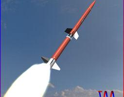 aerobee 170 rocket 3d model