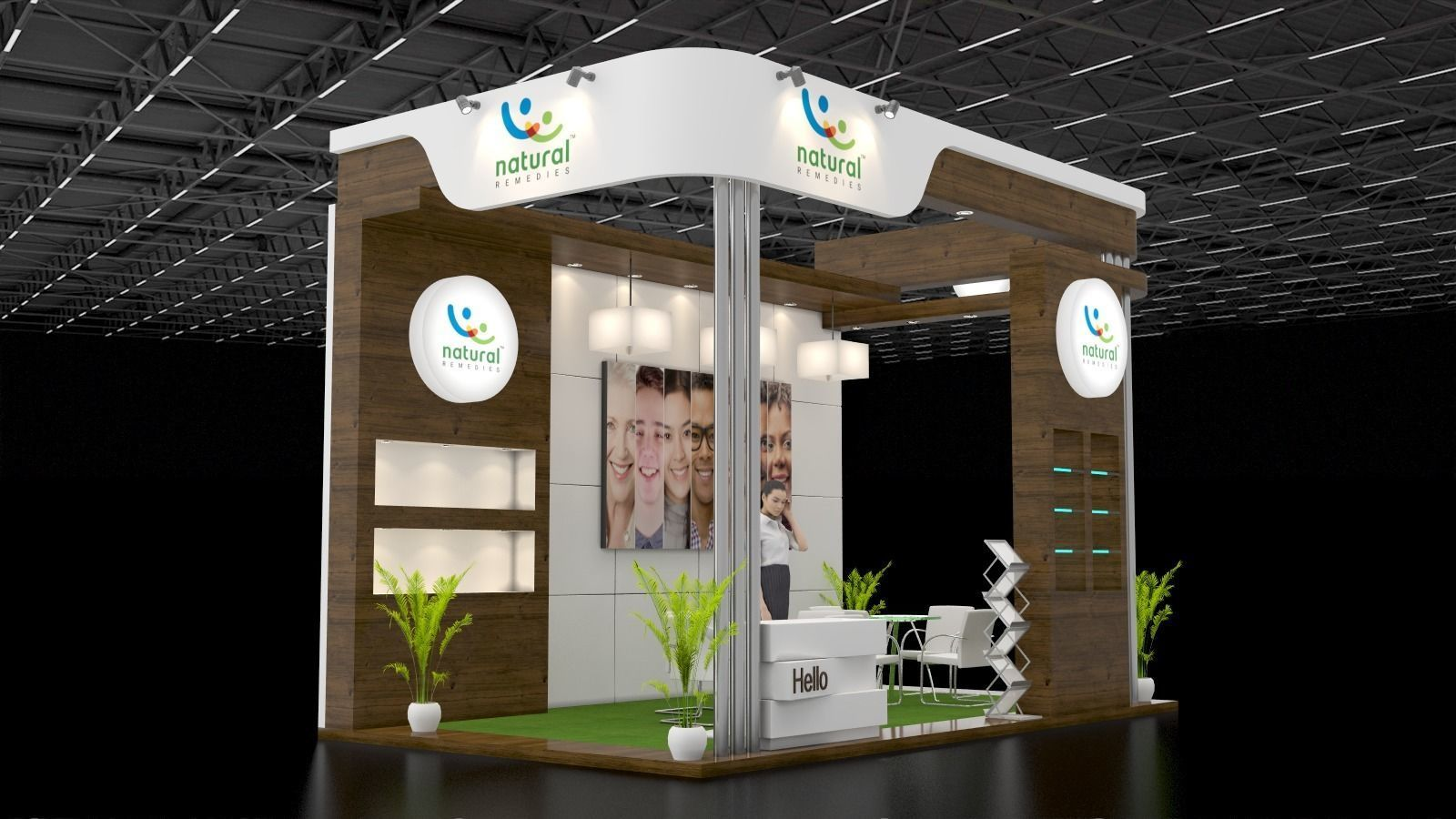 Exhibition Stand Design 3d Max : D model display exhibition stand design cgtrader