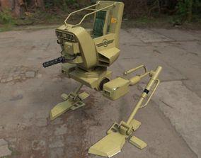 3D model rigged walker