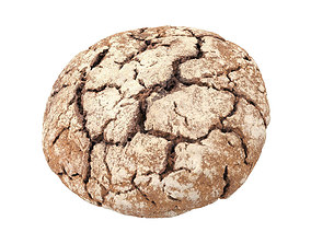 Photorealistic Einkorn Bread 3D Scan