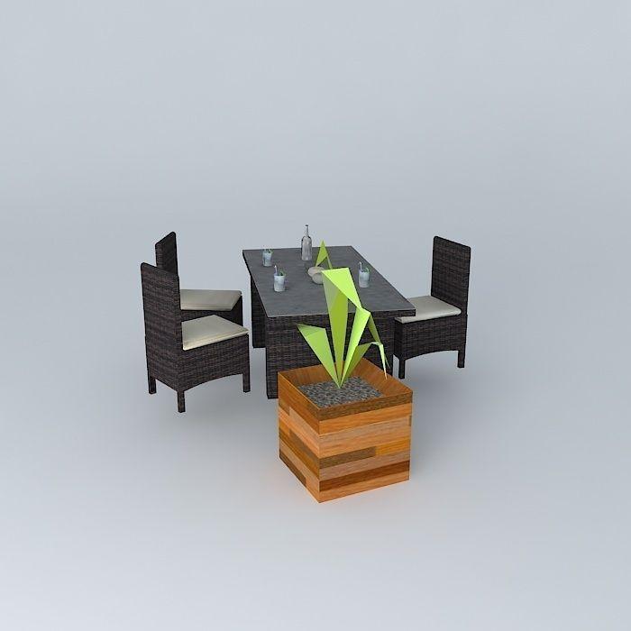 Garden Furniture 3d the bali garden furniture maisons du monde 3d model max obj 3ds