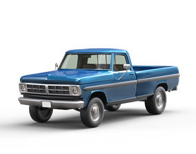 Pickup Truck 3D model game-ready