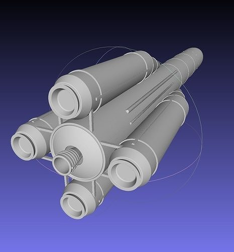 european rocket collection 3d model obj mtl 3ds dxf stl dae sldprt sldasm slddrw 1