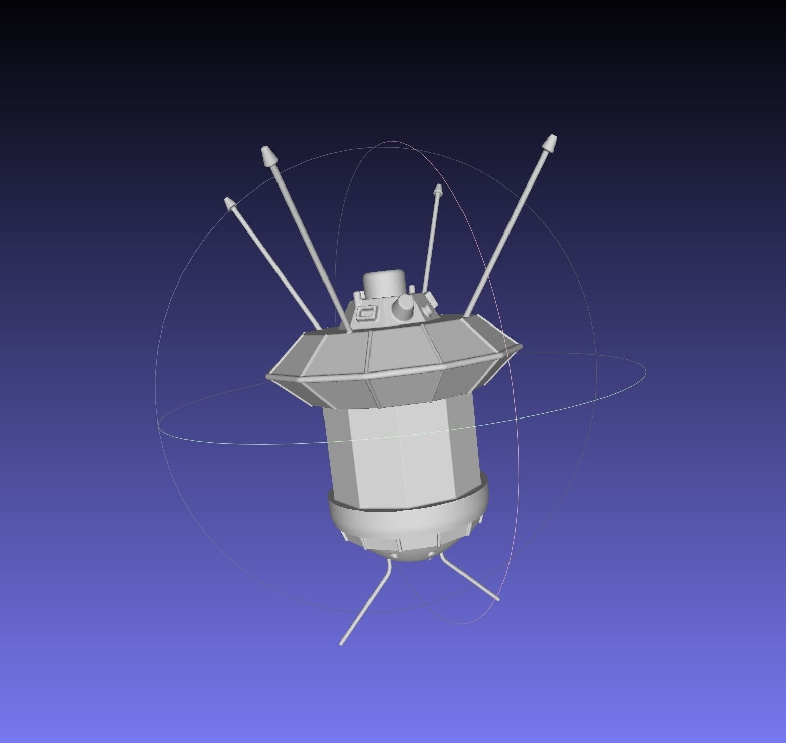 Simple Luna 3 Spaceprobe Printable Miniature