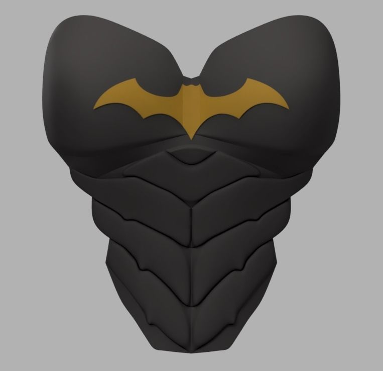picture relating to Batgirl Logo Printable known as Batgirl Upper body Armor 3D Print Type