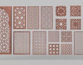 3D model Islamic panels pack