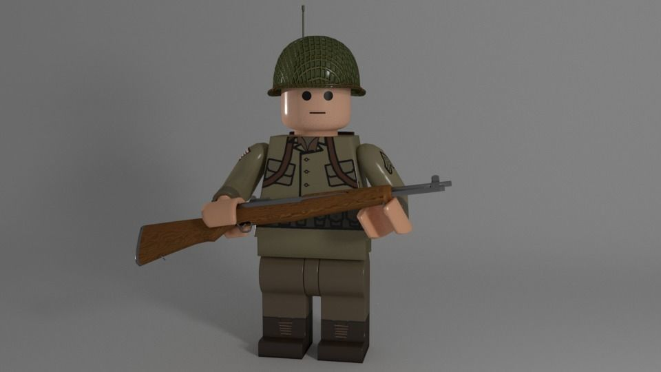 Lego WW2 Soldier | 3D model
