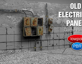 3D asset Old Electrical Panel