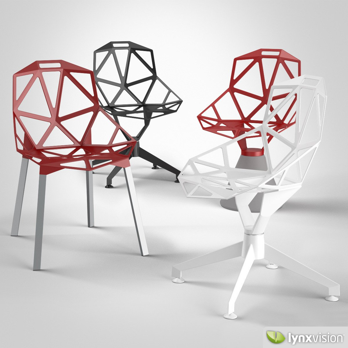 Chair one magis 3d model max obj fbx for Magis chair one